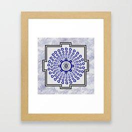 108 Evil Eye Sri Yantra Framed Art Print