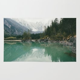 Turquoise lake - Landscape and Nature Photography Rug