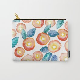 orange peony pattern Carry-All Pouch
