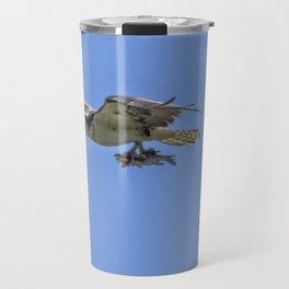 Mother Osprey Flying with Fish Travel Mug
