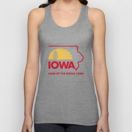 Iowa: Land of the Rising Corn - Red and Gold Edition Unisex Tank Top