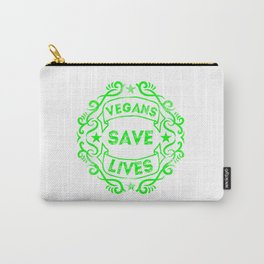 Vegans Save Lives Carry-All Pouch