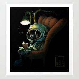Deep Sea Reader Art Print