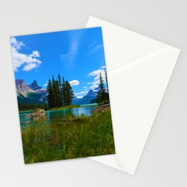 Spirit Island on Maligne Lake, Jasper National Park Stationery Cards