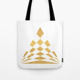 CHECKERBOARD ABSTRACT PYRAMID sacred geometry Tote Bag