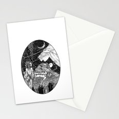 Fleeing Skeleton Stationery Cards