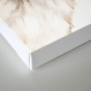 Sneaky Unicorn Llama White Canvas Print