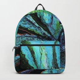 BLUE DESERT AGAVE CACTI PASTEL ART Backpack