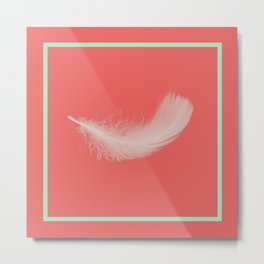 Coral Feather  Metal Print