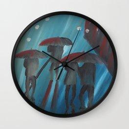 Feeling Blue by Lu Wall Clock