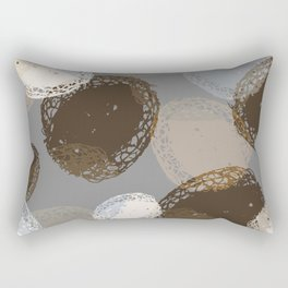 Seed Pods Neutral Color Graphic Pattern Rectangular Pillow