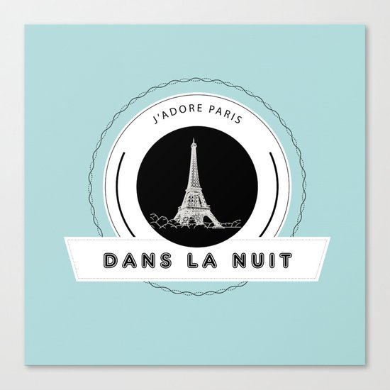 Paris tiffany blue Canvas Print
