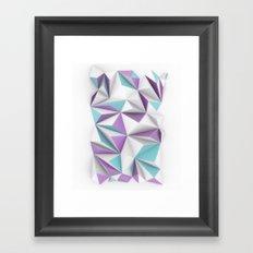 TRIANGLES//01 Framed Art Print