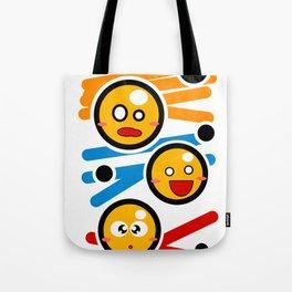 happy smiley trio Tote Bag