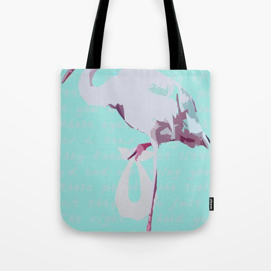 Baby Mine - magenta/aqua Tote Bag