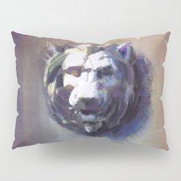 Lion Head Red Marble Pillow Sham
