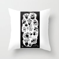 pirates Throw Pillows featuring Pirates by Louis Van Driessche