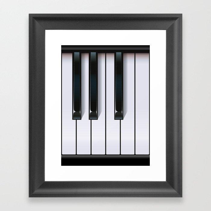 Piano Gerahmter Kunstdruck