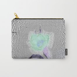 Tulip Grid White Carry-All Pouch