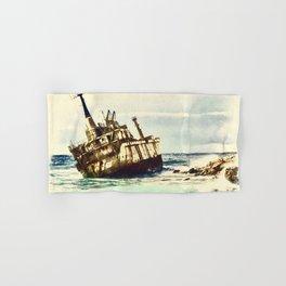 shipwreck aqrefn Hand & Bath Towel