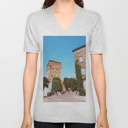 Summer in Krakow Unisex V-Neck