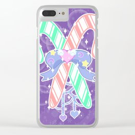 Candy Canes: Fairy Kei Version Clear iPhone Case
