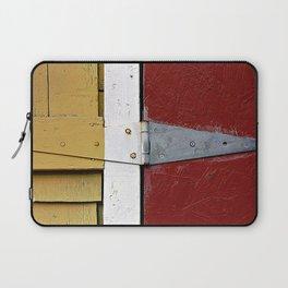 Isosceles Triangles on Wood Laptop Sleeve