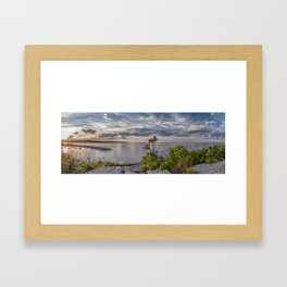 Headlands Sunset Pano 6-9-18 Framed Art Print