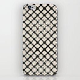 white&black flower pattern iPhone Skin