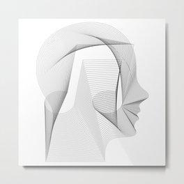Rhythm & Waves : Music Head Metal Print