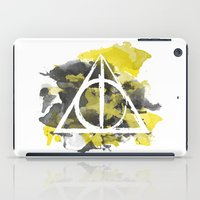 hufflepuff iPad Cases featuring The Deathly Hallows (Hufflepuff) by FictionTea