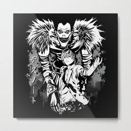Ryuk &  Light Yagami - Death Note Metal Print