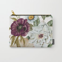 Colorful Wildflower Bouquet on White Carry-All Pouch