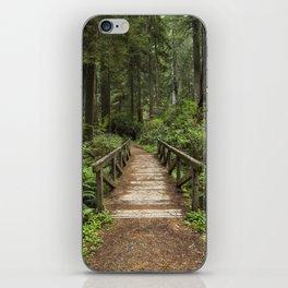 Walk Through Prairie Creek Redwoods State Park iPhone Skin
