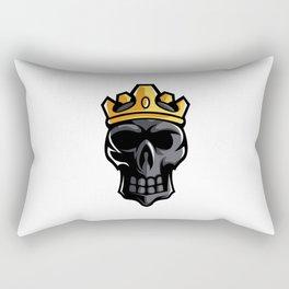 Black Skull King Crown Mascot Sport Esport Logo Template Streamer Team Rectangular Pillow