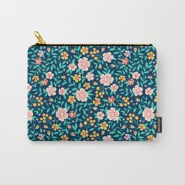 """Cute Floral pattern in the small flower. """"Ditsy print"""". Carry-All Pouch"""