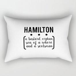 a.ham // white Rectangular Pillow