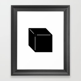 Shapes Cube Framed Art Print