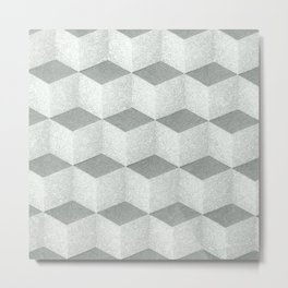 Seamless cubic geometric pattern design for home decoration Metal Print