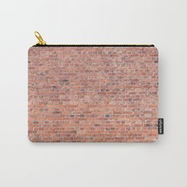 Plain Old Orange Red London Brick Wall Carry-All Pouch
