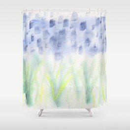 Hill Country Texas Bluebonnet Abstract Shower Curtain