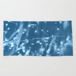 Blue Botanical Beach Towel