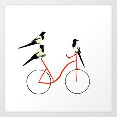 Reason THREE for using bike. Art Print