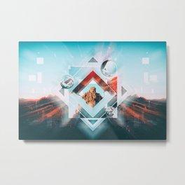 Abstract Geometric Collage I Metal Print