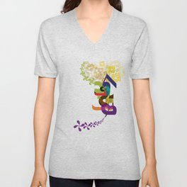 Flowers of Simele Unisex V-Neck