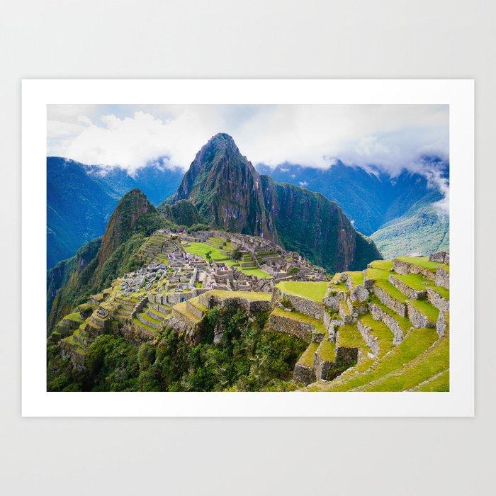 Breathtaking Machu Picchu Art Print