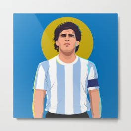 Diego Maradona is a God Metal Print