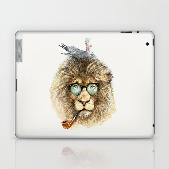 Lion sailor & seagull Laptop & iPad Skin