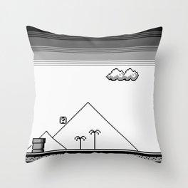 Super Pixel Land 1989 Throw Pillow