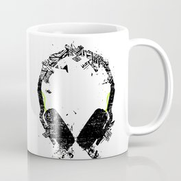 Art Headphones Coffee Mug